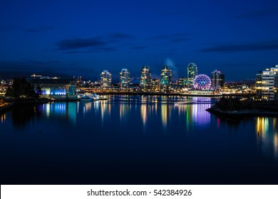 Vancouver at Christmas Night, British Columbia, Canada