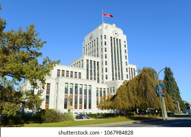Vancouver City Hall is an Art Deco style in downtown Vancouver, British Columbia, Canada.