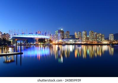 Vancouver City skyline, Vancouver, British Columbia, Canada