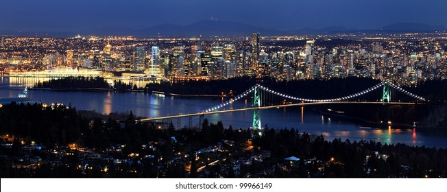 Vancouver city at twilight