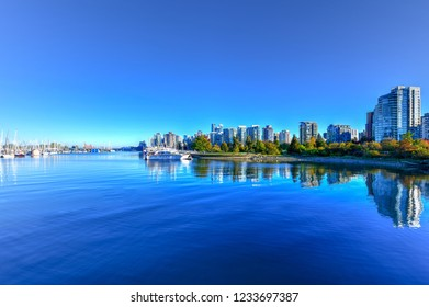 Vancouver Downtown Skyline  during the daytime from Stanley Park, Canada.
