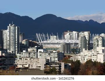 Vancouver, False Creek and BC Place Stadium, British Columbia, Canada