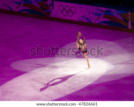 VANCOUVER - FEB 27: Mao Asada of Japan at the Figure Skating Olympic Gala during the Vancouver 2010 Olympic Games on February 27, 2010 in Vancouver, British Columbia, Canada