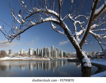Vancouver - Granville Island and False Creek in winter