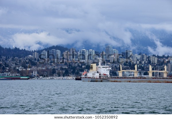 Vancouver Harbor and Vancouver City from a far distance