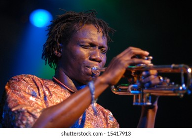 "VANCOUVER - JUNE 25, 2008: ""Seun Kuti and Egypt 80"" perform in Vancouver, Canada"