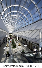 VANCOUVER - MARCH 20, 2014: Vancouver's most stylistic shopping mall, the Oakridge Centre is located at the intersection of Cambie Street and 41st Ave. Mall was  opened in 1959 by Woodward's Stores.