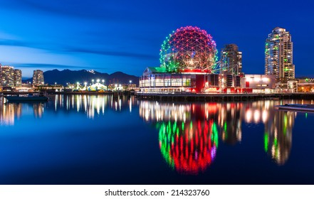 VANCOUVER - MAY 15: Science World, Canada on May 15, 2014.  The world of science, a city icon besides the Olympic village welcomes fans and athletes to the Vancouver 2010 Olympic Games in Vancouver.