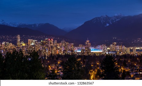 Vancouver at night from Queen Elizabeth park