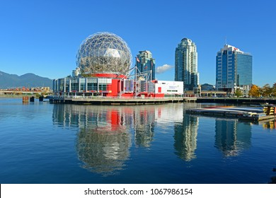 VANCOUVER - NOV 10, 2014: Vancouver Science World in Vancouver, Province of British Columbia, Canada. This building was designed for EXPO 86.