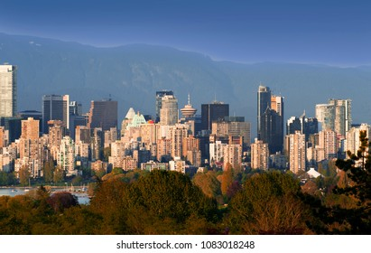 Vancouver Panoramic view of the downtown at May 1, 2018