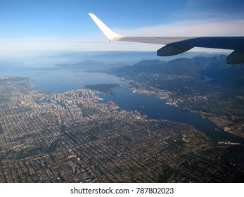Vancouver from the plane beautiful view