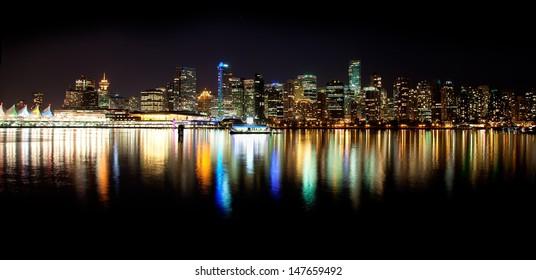 Vancouver Skyline at Night