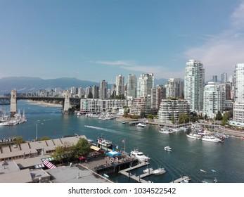 Vancouver skyline view from Granville bridge