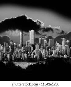 Vancouver with stormy sky