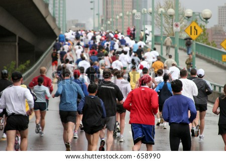 Vancouver Sunrun 10 K Marathon Everybody Stock Photo (Edit Now