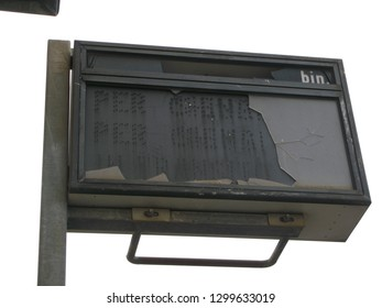 Vandalism italy trainstation