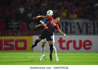 Vander Luiz Silva of Bangkok United in action during The Football Thai League between Bangkok United and SCG Muangthong United at True Stadium on March 02,2019 in Pathum Thani, Thailand
