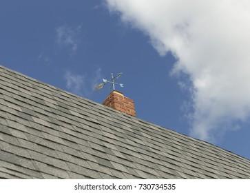 Vane on top of barn