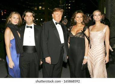 Vanessa Haydon, Donald Trump Jr, Donald Trump, Melania Trump, Ivanka Trump at The Fashion Group International's Night of Stars, Cipriani Restaurant 42nd Street, New York, October 27, 2005