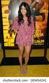 Vanessa Hudgens, wearing a Rebecca Taylor jumpsuit, at Premiere of WATCHMEN, Grauman's Chinese Theatre, Los Angeles, CA March 02, 2009