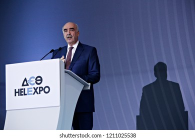 Vangelis Meimarakis, leader of conservative New Democracy party, delivers a pre-election speech in Thessaloniki, Greece on Sept. 12, 2015.