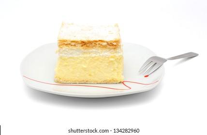 vanilla and custard cream cake