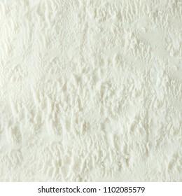 Vanilla ice cream white texture. Summer minimal background. Flat lay