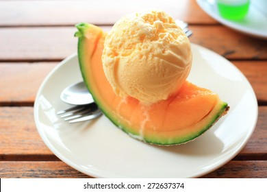 Melon Ice Cream Images Stock Photos Vectors Shutterstock Beat until sugar is dissolved. https www shutterstock com image photo vanilla icecream melon piece summer dessert 272637374