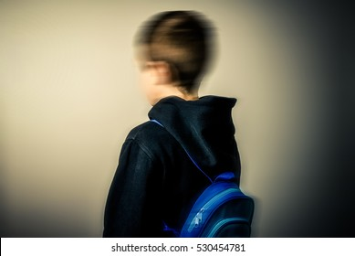 vanished - child with head intentionally blurred
