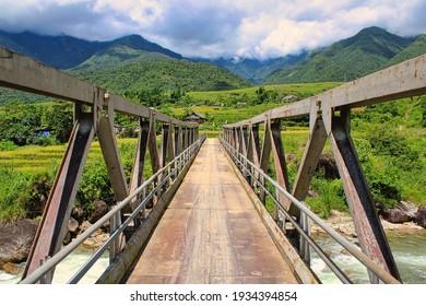 Vanishing Point of a Bridge in Vietnam