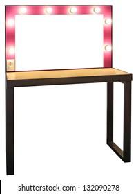 Vanity Mirror isolated on white background