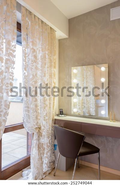 Vanity Table Woman Modern Bedroom Luxury Stock Photo (Edit ...