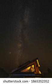Vanlife Vanagon Westfalia Campervan under the stars