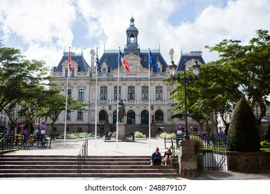 VANNES, BRITTANY, FRANCE - AUGUST 26: Center of the village of Vannes in France on August 26, 2014. Vannes is a market town and often linked to the sea.