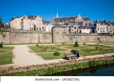 VANNES, BRITTANY, FRANCE: JULY 17, 2019 - Vannes is one of the unmissable towns of Brittany.
