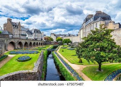 Vannes, a medieval city of Brittany (Bretagne) in France.