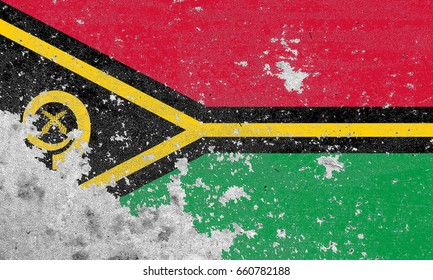 Vanuatu flag grunge background. Background for design in country flag