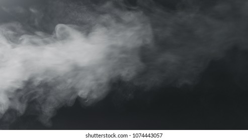 vapor steam over black background