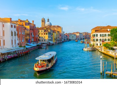 Vaporetto at Grand Canal in Venice, Italy