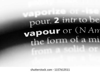 vapour word in a dictionary. vapour concept.