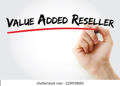 VAR - Value Added Reseller acronym, business concept background