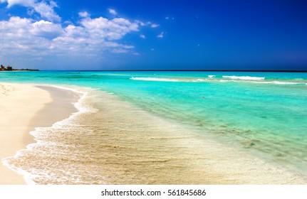 varadero beach. coast on atlantic ocean