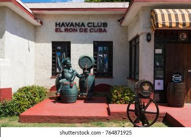Varadero, Cuba - June 30, 2017: Tourism attraction Havana Club Rum Museum and tourists store in Varadero Cuba  - Serie Cuba Reportage