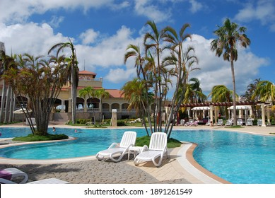 Varadero, Cuba, September 15, 2017:  Pool in Paradisus Princesa del Mar 5*  hotel