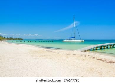 Varadero shoreline, Cuba