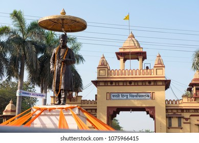Varanasi / India 26 March 2018 Main Entrance of Banaras Hindu University or Kashi Hindu Vishwavidyalay at lanka in Varanasi  Uttar Pradesh India