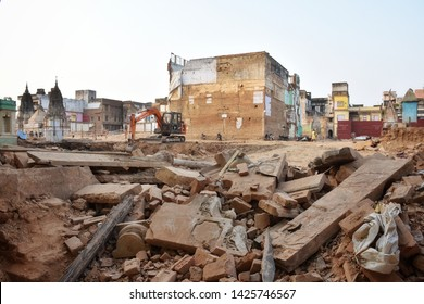 Varanasi, May 2019: Kashi Corridor, PM Modi's Dream Project In Varanasi is being completed, the 700 metre Kashi Vishwanath Temple Corridor, which aims to link Ganges River with Kashi Vishwanath temple
