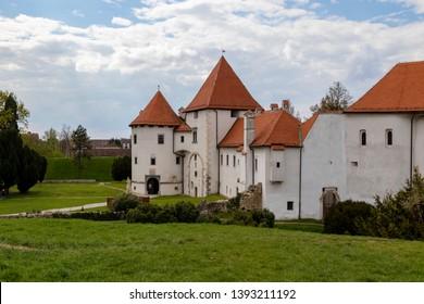 Varasd Croatia April 14 2019:  Stari  castle and surrounding park.