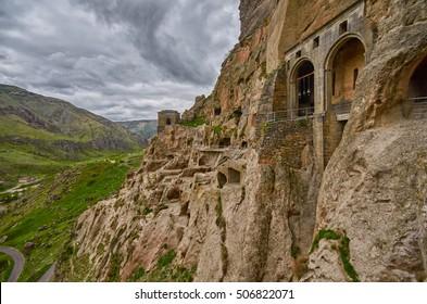 Vardzia Ancient Cave Monastery Town in Georgia